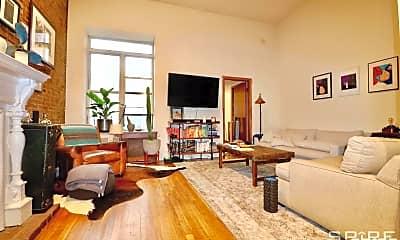 Living Room, 128 W 74th St 1B, 0