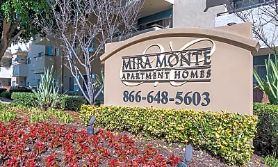 Community Signage, Mira Monte Apartment Homes, 1