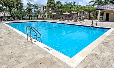 Pool, Sunset Palms Apartments, 1