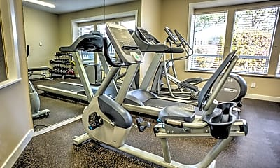 Fitness Weight Room, Sunset Park Apartments, 1