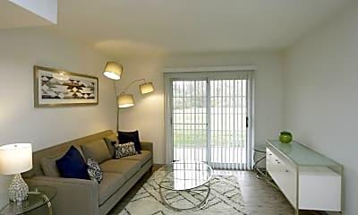 Living Room, Fairway Hills Apartments, 0