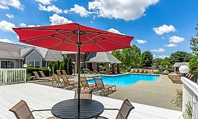 Pool, Gentry Square Apartments, 1