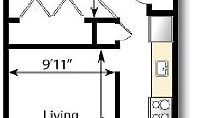 Bedroom, 140 S Ogden St, 2