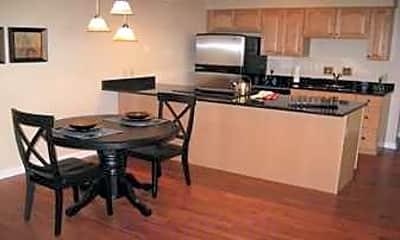Kitchen, Mansard House Apartments, 0