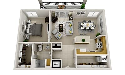 Bedroom, 6220 Martway St, 2