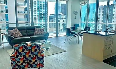 Living Room, 1111 SW 1st Ave 2419-N, 1