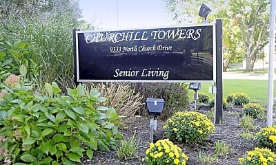 Community Signage, Churchill Towers, 2