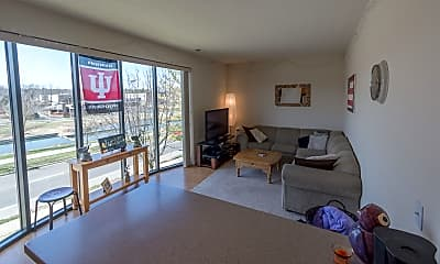 Living Room, Waterview Apartments, 0