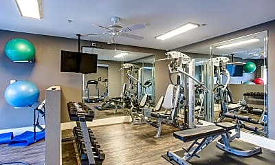 Fitness Weight Room, Summit Point Apartments, 2