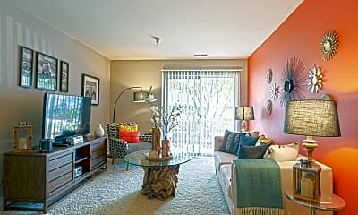 Living Room, Hunter's Glen Apartments, 1