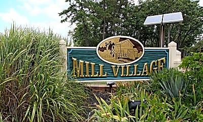 Community Signage, Mill Village Apartments, 1
