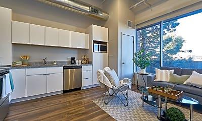 Kitchen, Brick Lofts Apartments, 0