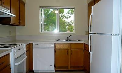 Kitchen, Campus Villa Apartments, 0