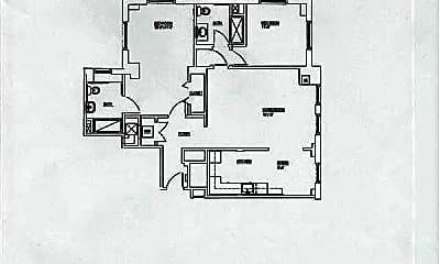 Two Bedroom Floorplan B, Whittier Manor, 2