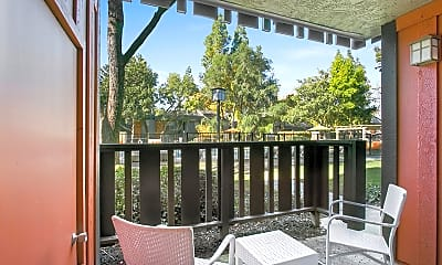 Patio / Deck, The Falls At Arden Apartments, 2