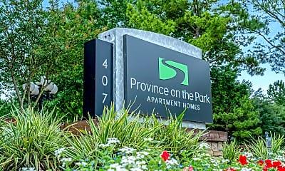Community Signage, Province on the Park, 2