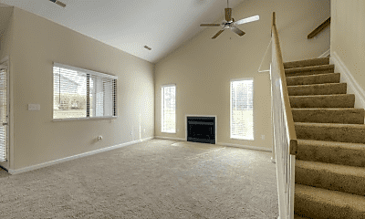 Living Room, Cedar Lake Apartments, 2