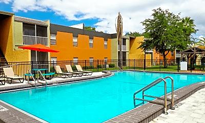 Pool, River Rock Apartments, 0