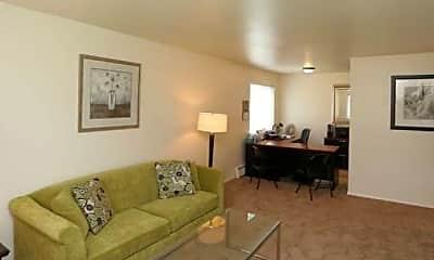 Living Room, Rivers Edge Apartments, 1