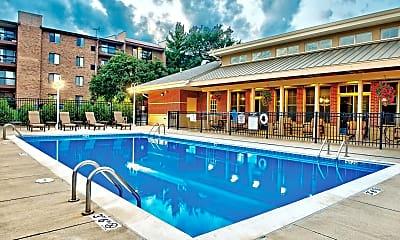 Pool, Farmingdale Apartments, 1