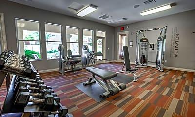 Fitness Weight Room, Bella Terra Apartments, 2