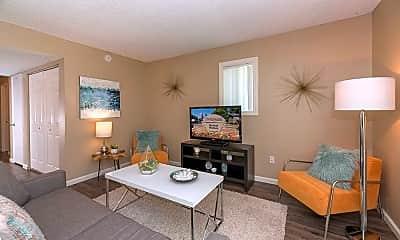 Living Room, Waverly Flats, 1