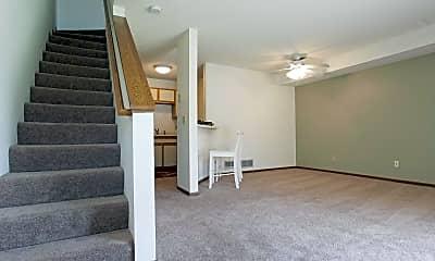 Living Room, Oakleaf Townhomes, 1