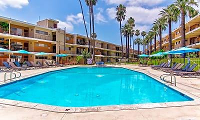 Pool, Diplomat Park Apartments, 1