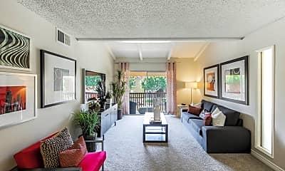 Living Room, Casa Grande Apartments, 1