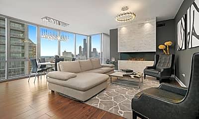 Living Room, 1201 S Prairie Ave 3901, 1