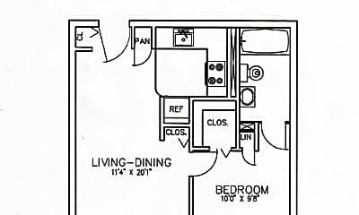 One Bedroom Apartment.jpg, 102 North Crain Highway, 2