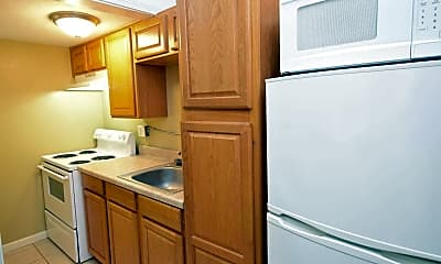 Kitchen, Crown Efficiency Apartments, 1