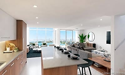 Living Room, 1500 Bay Rd N-1415, 1