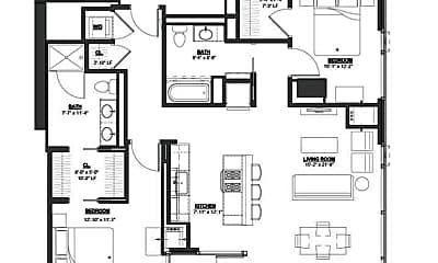 Bedroom, 1201 N LaSalle St, 2