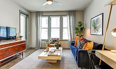 Living Room, Meeting Street Lofts, 1