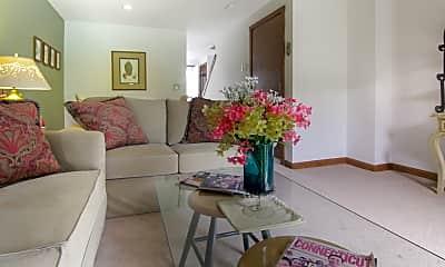 Living Room, Cornfield Apartments, 1