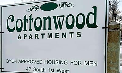 Community Signage, Cottonwood Apartments, 2