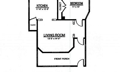 Bathroom, 1111 Main St, 2