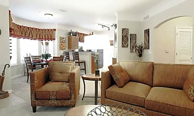 Living Room, Villas At Houston Levee East and West, 1