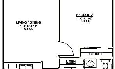 Living Room, 1100 N Main St, 2