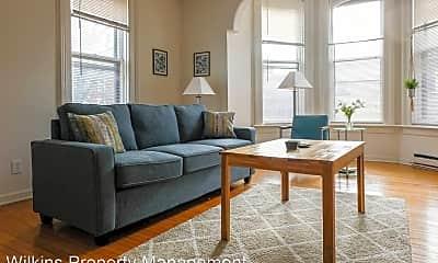 Living Room, 1227 N Cass St, 1