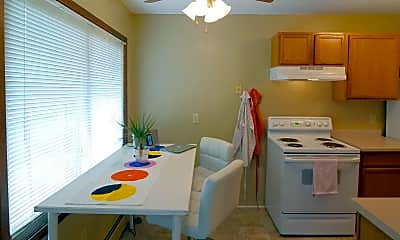 Dining Room, Parkview Apartments, 1