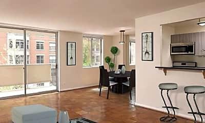 Living Room, 1401 N St NW, 1