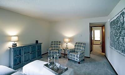 Living Room, Broadway Village Apartments, 1