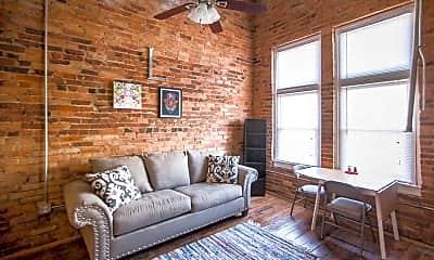 Living Room, Farmer's Exchange Lofts, 1