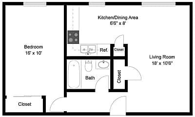 Bedroom, 4080 Upham St, 2