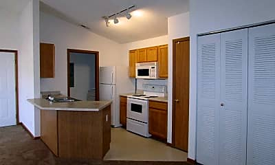 Kitchen, Cross Winds Apartments, 1
