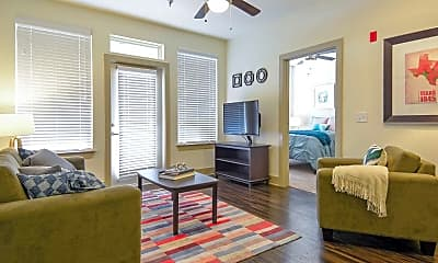 Living Room, The Domain At Waco Student Apartments, 1