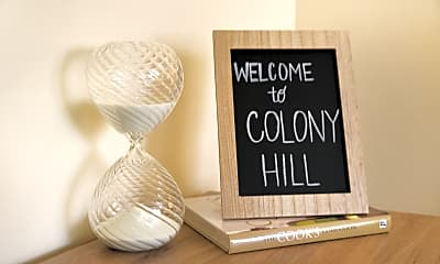 Community Signage, Colony Hill, 1