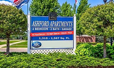 Community Signage, Ashford Apartments w/ Garages, 2